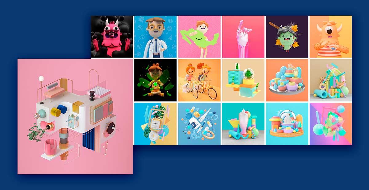 Imagen 3D tendencias de diseño - More Digital Agencias de Marketing Digital