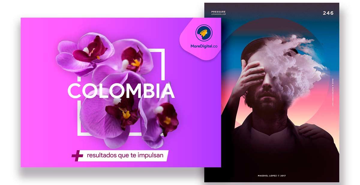 colores neón y vibrantes tendencias de diseño - More digital colombia - Marketing y publicidad digital